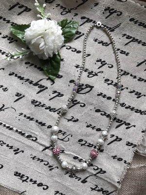~泰緣~ 真品開光 泰國佛牌 鋼珠水鑽 短項鍊 女生款 實體非常漂亮 預購