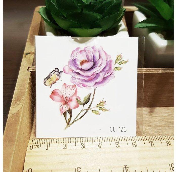 【萌古屋】花朵單圖CC-126 - 防水紋身貼紙刺青貼紙K38