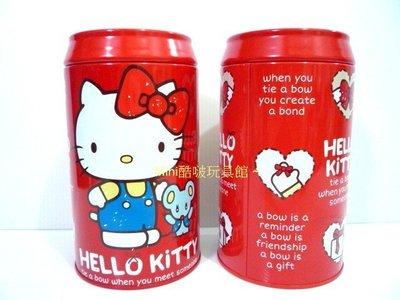 台製~正版限量 Hello Kitty凱蒂貓 可樂罐造型/存錢筒 撲滿~