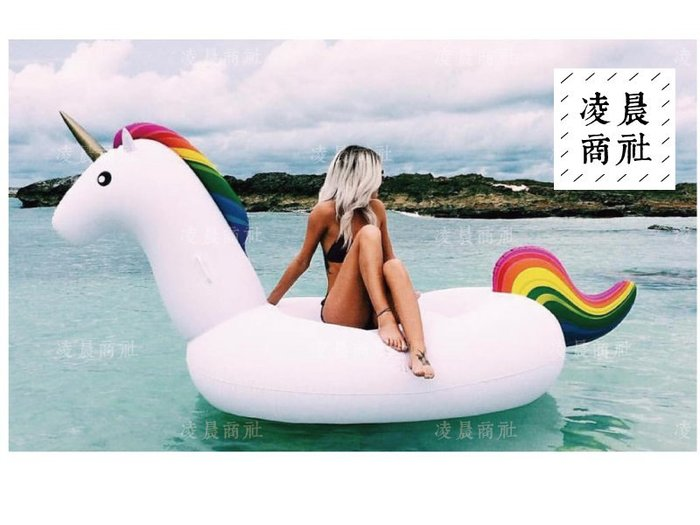 凌晨商社 //歐美 人氣 拍照道具 渡假 白色 彩虹 獨角獸 飛馬 泳池派對 火鳥 泳圈