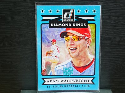 Adam Wainwright 2015 Donruss Hot off the Press 藍印平行卡