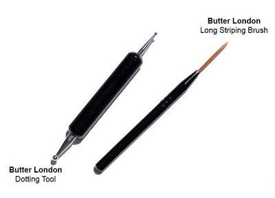 butter LONDON~直順筆Long Striping Brush+點點筆Dotting Tool  指甲彩繪工具