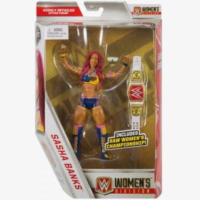 [美國瘋潮]正版WWE Sasha Banks Wome's Division Elite 女子冠軍限定款精華版公仔人偶
