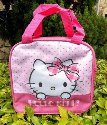 【卡漫迷】 Hello Kitty 便當袋 粉 ㊣版 手提袋 拉鍊式 餐袋 保溫袋 保冷袋 方型 造型 保冰袋 飲料袋