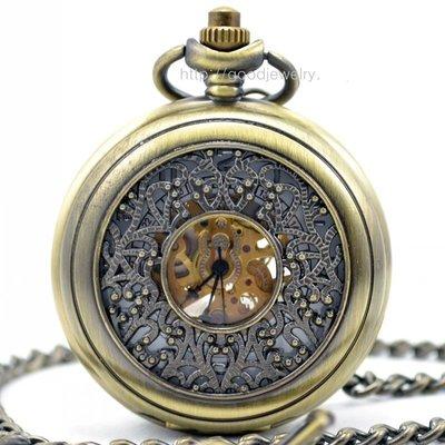 宮廷風鏤空雕花 時尚復古機械懷表 潮流飾品 男女流行手表