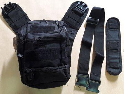 【軍武門二館】  #803鞍包(黑色/斜背)戰術包/登山包/外外用品