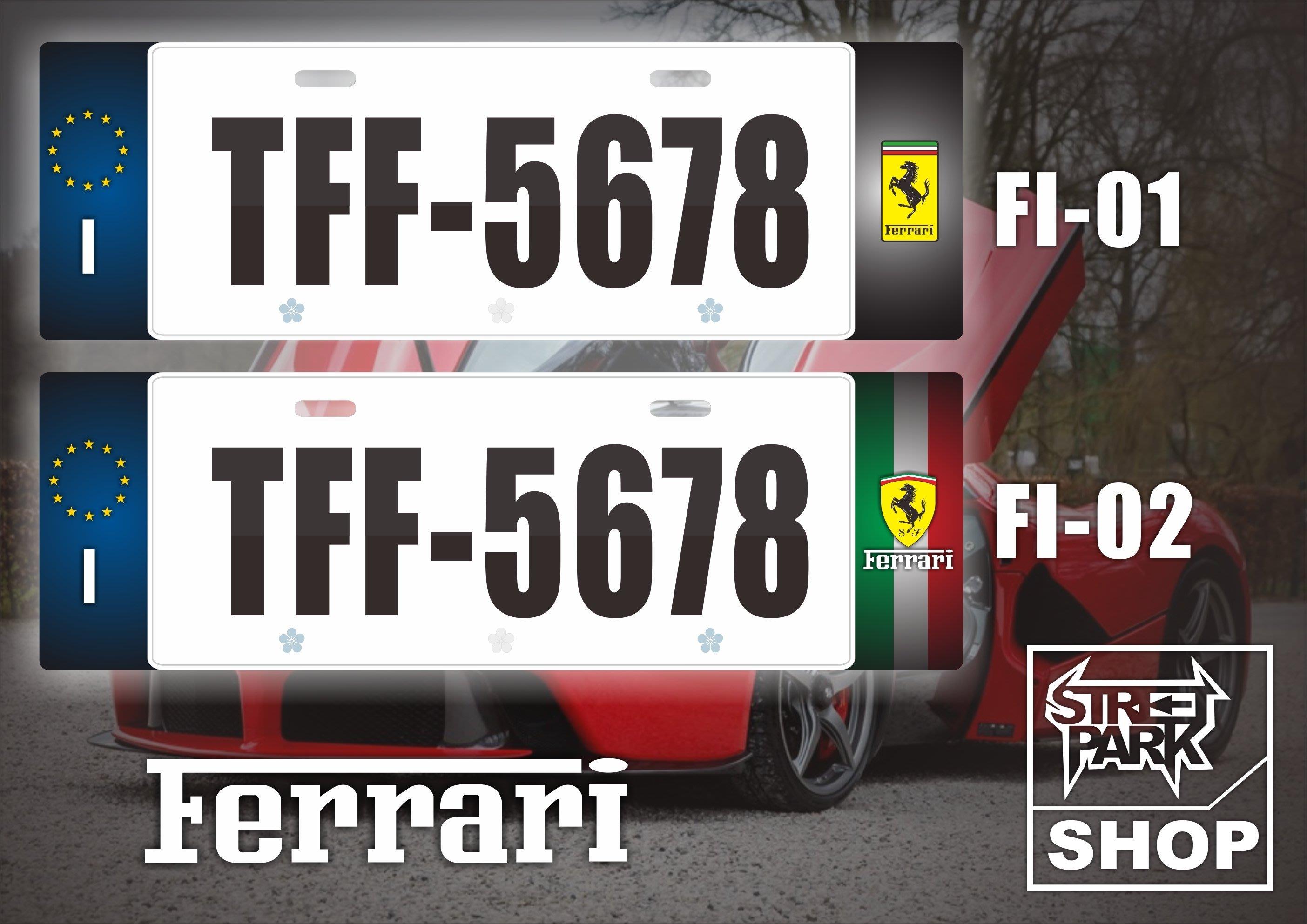 【STREET PARK】訂製 歐盟 車牌裝飾 Ferrari 法拉利 488 F8【原價780$ 特價 580$】