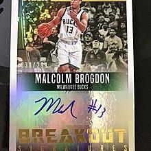 2016-17 Panini Studio Malcolm Brogdon 親筆簽名卡 限量299張