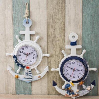 掛鐘 鐘表地中海掛鐘北歐客廳個性創意時尚潮流現代簡約臥室家用小掛表   全館免運