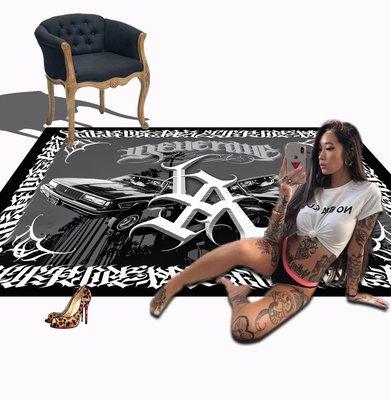 Cover Taiwan 官方直營 Lowrider LA 嘻哈 西岸 老墨 刺青 家飾 傢飾 地毯 地墊 (預購)