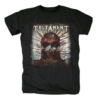 發發潮流服飾Testament圣約敲擊金屬重金屬搖滾Demonic專輯圓領短袖男半袖T恤