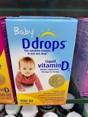 美國代購 現貨含運 Ddrops 嬰兒 維他命D3 維生素D3 400iu D3滴劑 補充鈣 骨骼生長。