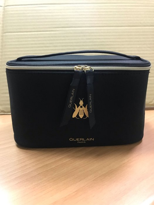 全新現貨嬌蘭新款黑色布藝材質化妝包 手拎化妝箱 手提包收納包整理包 17.5*10*12