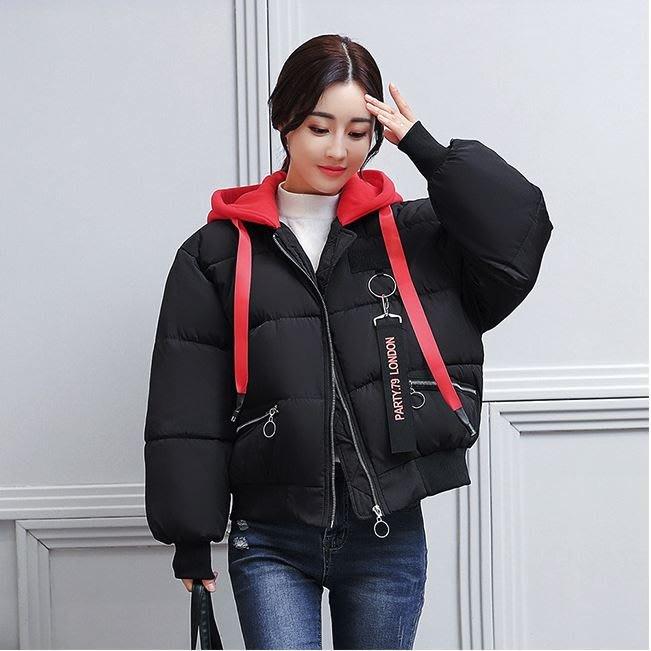 女 外套 羽絨棉 連帽 短版 時尚 韓版 C17-HYG5268
