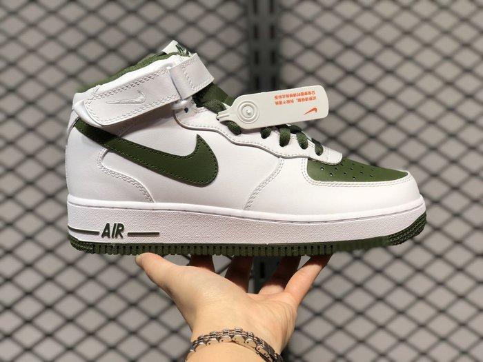NIKE AIR FORCE 1 LOW AF1 白綠 男女 休閒 運動 板鞋  554724 088