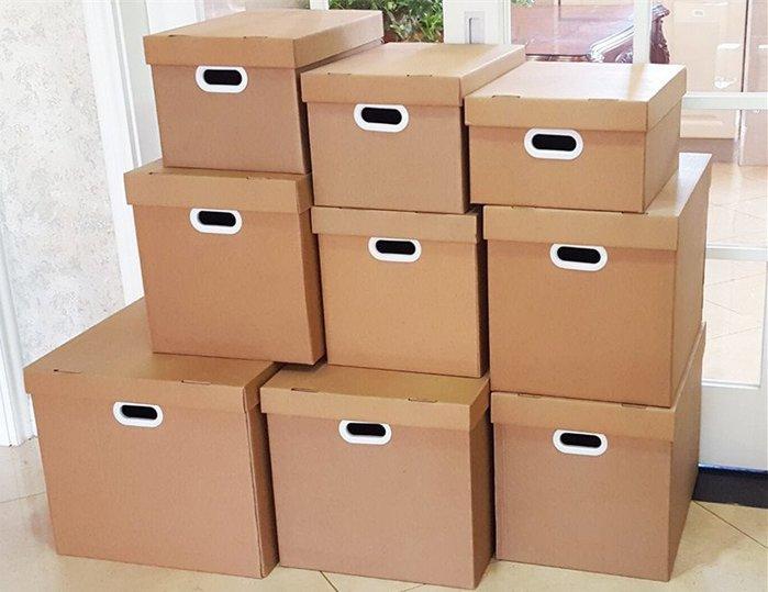 收納世家 紙箱收納A4紙質文件收納箱收納有盒蓋大號搬家整理紙箱衣服儲物箱滿下標兩個才能發貨喔