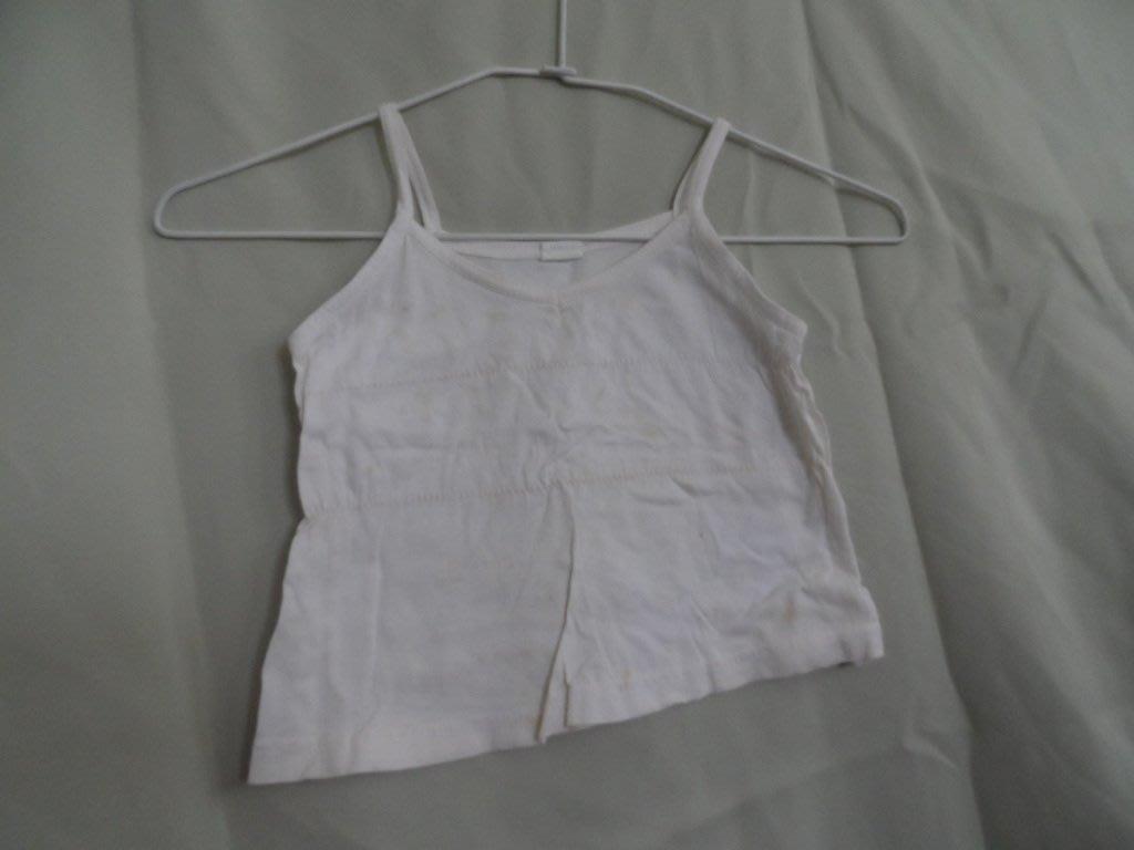 大熊舊書坊-二手童裝 背心  腰寬28長25 有黃斑 出貨時會漂洗 --衣1