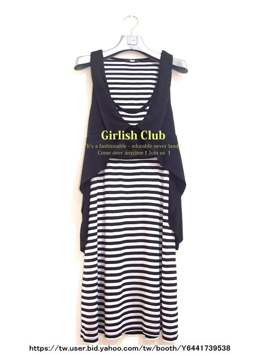 【Girlish Club】專櫃SLY假兩件渡假風連身裙洋裝(m1002)韓國sz  iroo貝爾尼尼四八一元起標