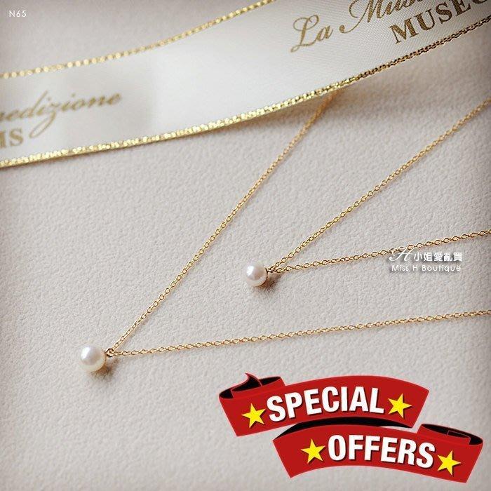 優惠特價款N65-手工輕珠寶-光澤極好的天然淡水小珍珠迷你小吊墜14k包金項鍊 (agete rv mb ca4la