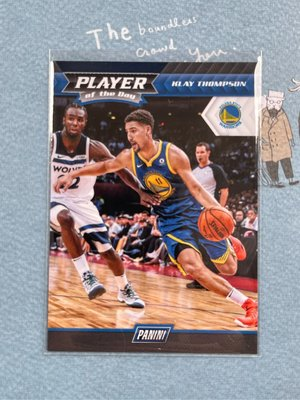 2017-18 Panini Player of the day warriors 11 allay Thompson C-3