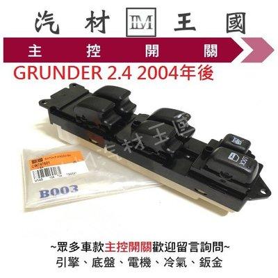 【LM汽材王國】 主控開關 GRUNDER 2.4 2004年後 防夾 正廠 電動窗 升降機 昇降機 開關 電動 三菱