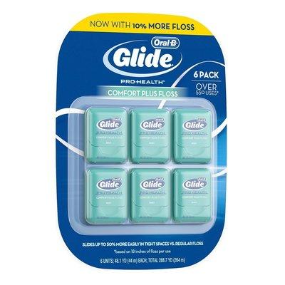 ORAL-B 歐樂B Glide 清潔舒適牙線  薄荷口味 44 公尺 × 6 入 COSTCO 好市多