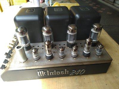 美國 MCINTOSH MC-240 真空管後級擴大機 全部歐美管 品項85分 功能正常