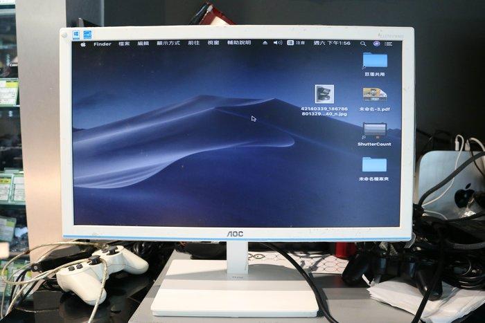 【高雄青蘋果3C競標】AOC E2276VWM6/WB 21.5吋 白 LED液晶顯示器 二手螢幕 #39240