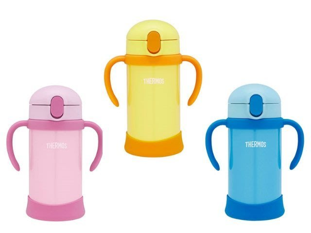 THERMOS膳魔師 新上市 FHV-350 不銹鋼兒童學習杯 (把手可拆卸) 附備用吸管 公司貨 FHV-350
