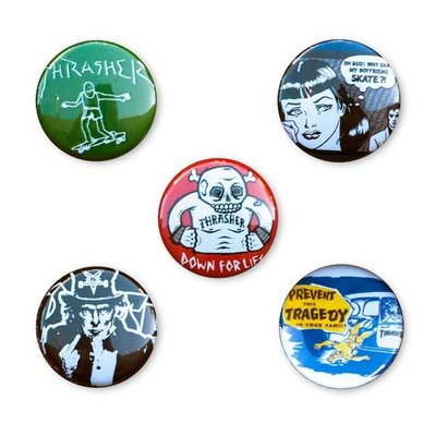 《Nightmare 》Thrasher Usual Suspects Buttons (5 Pack)