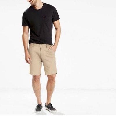 6720 R2 現貨 Levi's 經典 低腰 休閒 短褲 彈力 鈕扣式 褲子 膝上褲Straight Chino