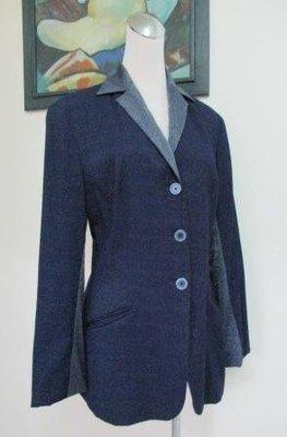 ~YVES NATURALIST 藍色 西裝式長袖裙裝 9/7號~M號適穿