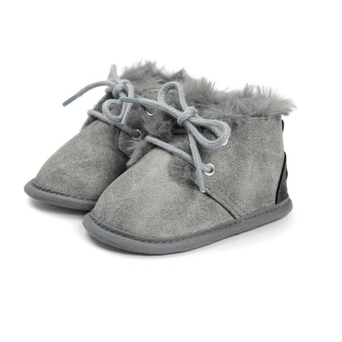 森林寶貝屋~灰色休閒保暖鞋~學步鞋~幼兒鞋~寶寶鞋~嬰兒鞋~學走鞋~童鞋~綁帶設計~保暖舒適~彌月贈禮~特價135元