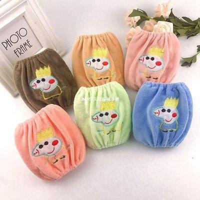 JMW集美屋韓國專櫃兒童寶寶袖套男女長短款防臟嬰幼兒可愛套袖秋冬防水小孩護袖