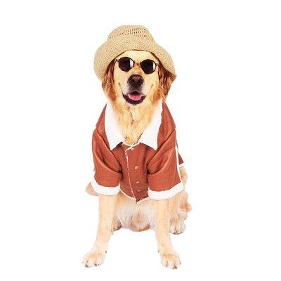 寵物用品·狗狗衣服金毛中型大型犬薩摩耶拉布拉多阿拉斯加兩腳裝寵物秋冬裝