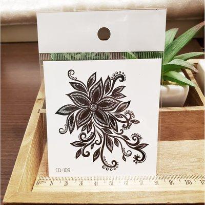 【萌古屋】】花朵圖騰 - 手背防水紋身貼紙刺青貼紙CD-109 K12