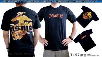 【ARMYGO】美國 7.62 軍事T恤 - 海軍陸戰隊系列 -USMC 'TRAIN FOR WAR'
