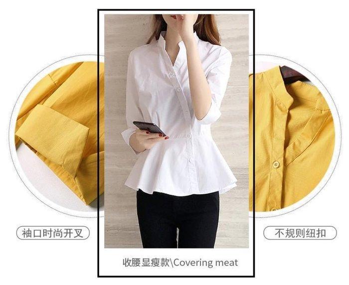 貓姐的團購中心~甜美荷葉下擺中袖襯衫~2種顏色~S-2XLㄧ件390元~預購款