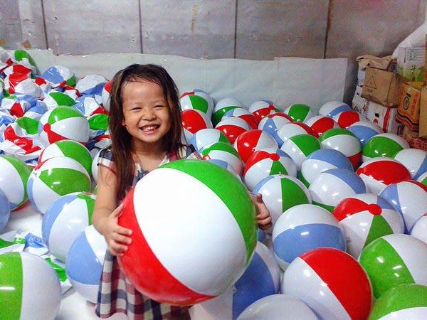 台灣製 16吋 沙灘球 海灘球 充氣球 夏天玩水 趣味活動 游泳圈 批發 訂做生產各式陸上水上充氣產品(廣育充氣塑膠)