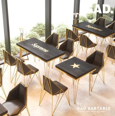 GAD德古拉元年 網紅西餐廳咖啡店甜品店奶茶店桌椅組合餐檯桌餐椅