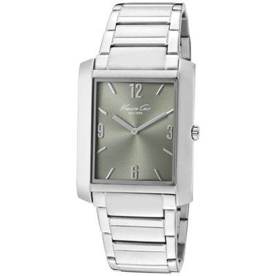 【KENNETH COLE - KC 3853 】100% 全新正品 時尚 不鏽鋼 名錶.手錶 / 淺墨綠