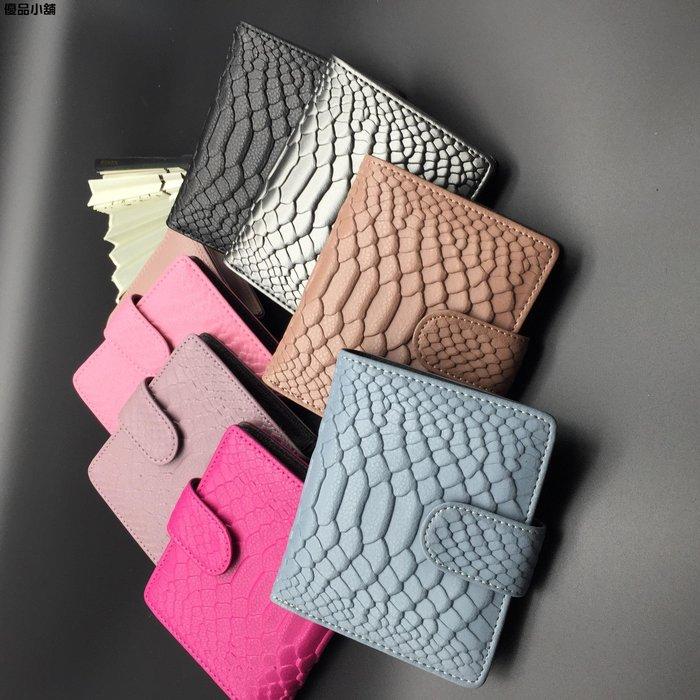 韓版歐美女士牛皮錢包搭扣 卡包 錢夾 優品小鋪