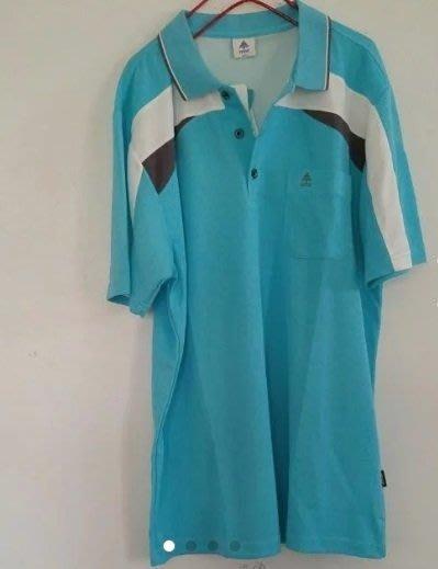 Spar 冰藍色雙色細眼排汗衫polo衫短袖上衣 2L 男裝 大尺碼 全新正品現貨出清JYUN'S