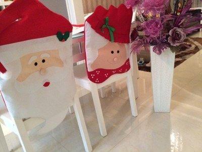 現貨實拍圖大號聖誕椅套 聖誕椅子套 聖誕節用品餐桌裝飾 聖誕節咖啡館裝扮聖誕節飯店裝飾厚實優質環保聖誕椅子套交換禮物