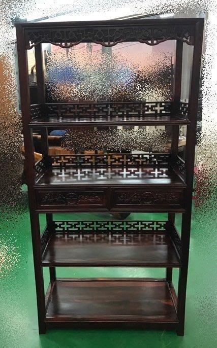 樂居二手家具 家電 全新中古傢俱 LG101901*高級雞翅木書架 高低展示櫃*古董家具買賣 仿古家具 雕刻藝品