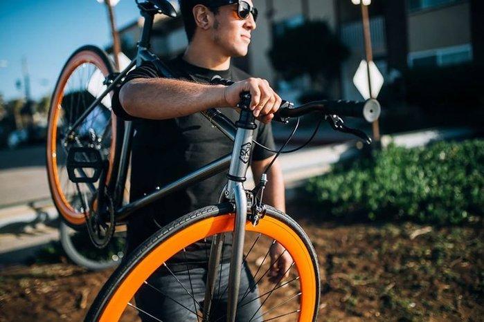 【鐵馬假期】 美國 6KU 鋼管 單速車 入門款 場地車 可配色(鐵灰/橘) LOOP