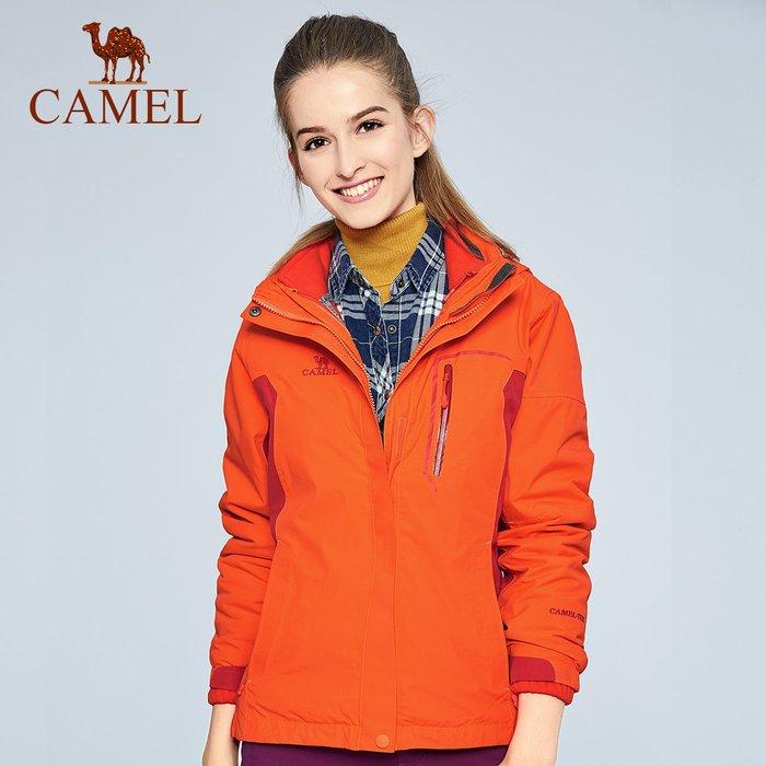 時尚服飾駱駝戶外沖鋒衣 女款防風防水保暖兩件套沖鋒衣A6W145122