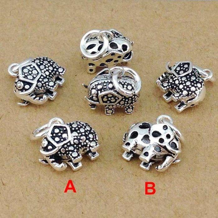 「還願佛牌」泰國 進口 925 純銀 飾品 銀配件 小象 馬克賽 立體 象