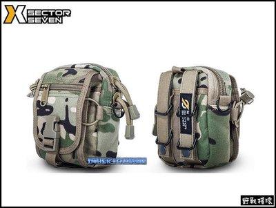 【野戰搖滾-生存遊戲】SECTOR SEVEN D40 甲殼蟲戰術腰包、側背包【CP迷彩】Multicam多地形手機腰包