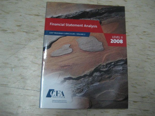Financial Statement Analysis (CFA)~2008年出版/ ISBN:053634230X